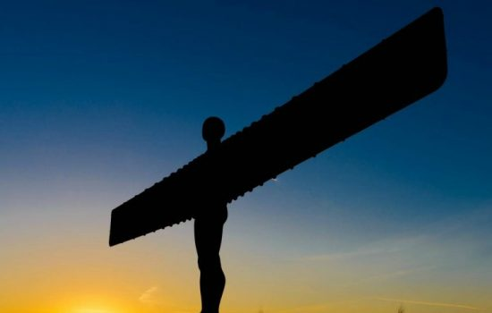 Angel of the North, Northern Powerhouse - Stock Image