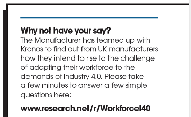 The Manufacturer Industry 4.0 and The Workforce Survey In Association With Kronos article link