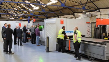 Open days were held on November 15 - 16, 2016 at Accurate Laser Cutting's Oldbury facility to launch the availability of its new fibre laser cutting capacity, the 10 kW ByStar 3015 Fiber – image courtesy of Bystronic UK.