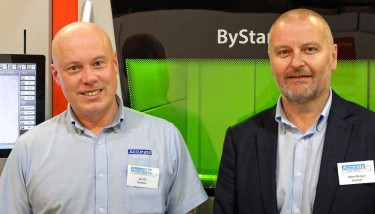 Jon Till (left), joint owner of Accurate Laser Cutting together with technical director, Steve Morgan (right) - image courtesy of Bystronic.