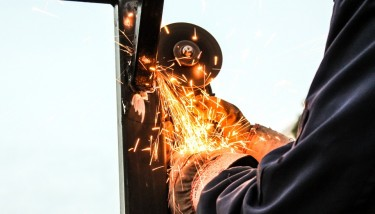 Rockwell Automation Welding Sparks Grinding Worker Apprentice Stock - image courtesy of Pixabay.