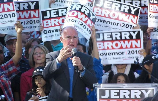 California Governor Jerry Brown in October 2010 - image courtesy of Wiki Commons and Amadcientist