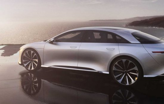 The Lucid Air electric vehicle - image courtesy of Lucid Motors.
