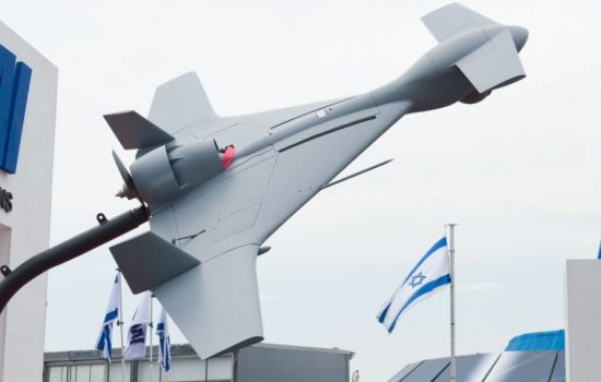 An Israeli made Harop suicide drone. Image courtesy of Wikipedia.