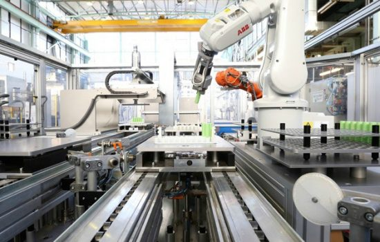 Germany's annual supply and operational stock of industrial robots in 2016 had a share of 36% in Europe - image courtesy of University of Warwick WMG.