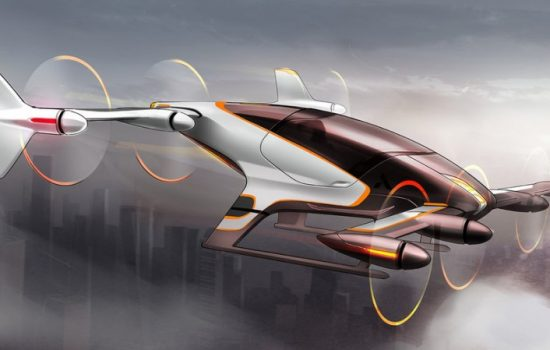 An artist's impression of an Airbus flying car. Image courtesy of Airbus Group.