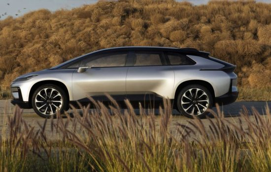 The FF91 is a high-tech electric luxury hatchback. Image courtesy of Faraday Future.