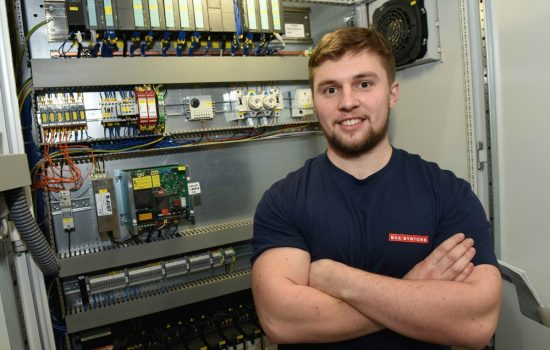 Bradley Smith, electrial apprentice from Land, UK-based in Radway Green - image courtesy of BAE Systems.
