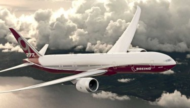 When complete, the 777X series will reportedly be the world's largest and most efficient twin engine jet - image courtesy of Boeing.