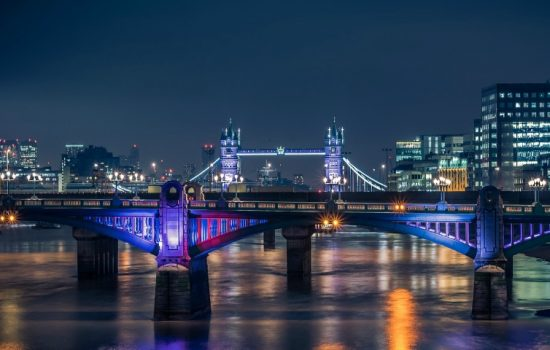 London Night Skyline Tower Bridge London Bridge Digital Transformation - - image courtesy of Pixabay.