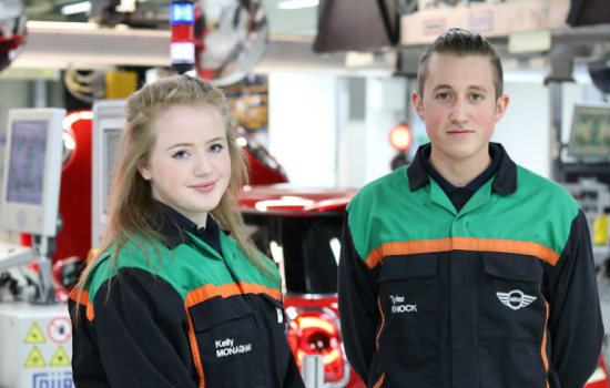 Plant Oxford apprentices Kelly Monaghan and Tyler Knock - image courtesy of BMW Group - Apprenticeship