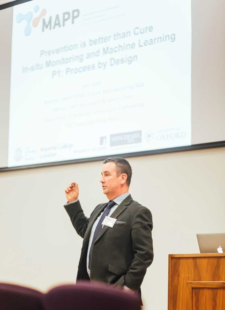 Professor Iain Todd speaking at the launch event - image courtesy of MAPP.