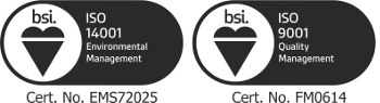 The Thomas Dudley BSI Certificate logos - image courtesy of Thomas Dudley