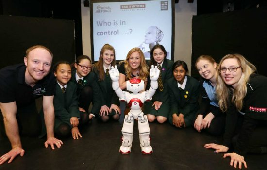 The nationwide schools engineering and science roadshow was launched at St. Marylebone Church of England School, London – image courtesy of BAE Systems - STEM