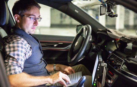 BMW is developing an autonomous car in a partnership with Intel and Mobileye - image courtesy of Mobileye.