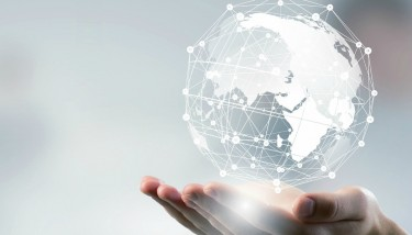 Stock - Connected Connectivity Globe Smart Supply Chain Technology