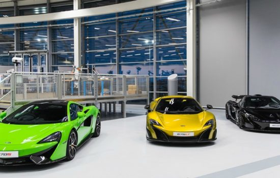 McLaren Automotive supercars at the AMRC's Factory 2050 for the launch of the new partnership on 9 February 2017. World Copyright: PatrickGosling/ Beadyeye