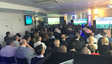 Almost 200 thought leaders and executives gathered to gain an exclusive insight into the next generation of intelligent business applications - image courtesy of Microsoft.