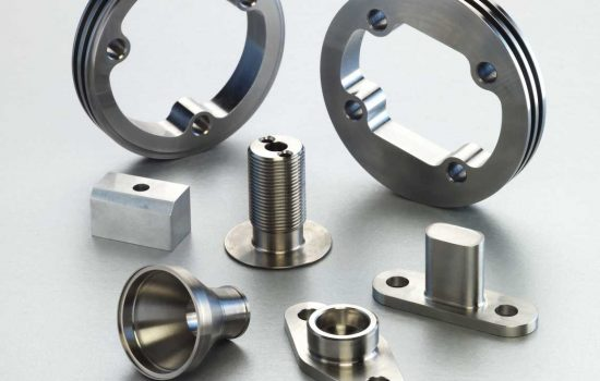 A selection of precision machined components manufactured by the company's Indian operations - image courtesy of Nasmyth Group.