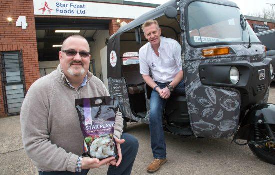 Steve Money and Patrick Downham (both Star Feast Foods) – image courtesy of Star Agro Marine Food.