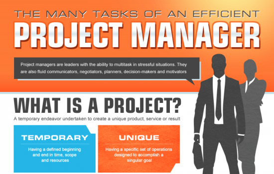 The many tasks of a project manager - image courtesy of Brandeis University M.S. in Project and Program Management Online