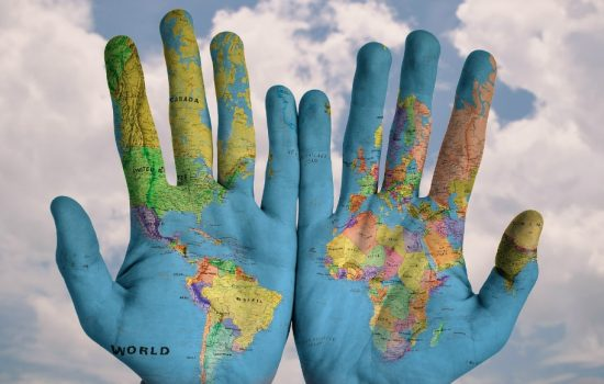 Translation Hands World Map Globe Countries Supply Chain International - image courtesy of Pixabay.