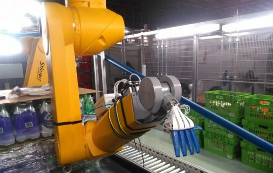 Ocado is testing robotic hands in a simulated warehouse. Image courtesy of Ocado Technologies.