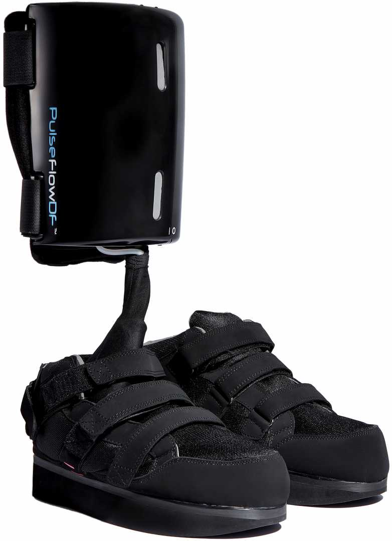 Wearable Tech - The PulseflowDF offloading boot – image courtesy of Pulseflow Technologies.