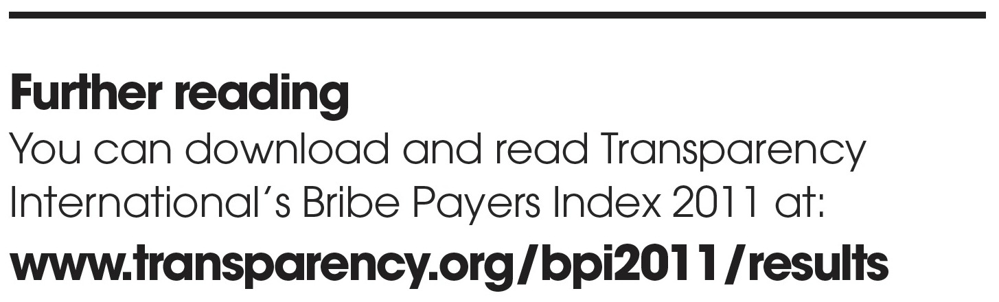 Transparency Internation Bribe Payers Index 2011 - Link