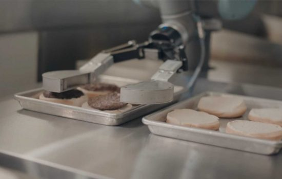 The Flippy robot is designed to automate flipping fast-food burgers. Image courtesy of Miso Robotics.