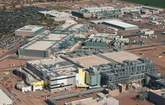 The as yet incomplete Fab42 Intel chip manufacturing plant in Arizona, where the Cannonlake chips will be made - image courtesy of Intel.