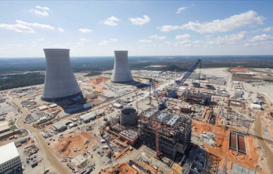 A US nuclear power plant under construction by Westinghouse. Image courtesy of Georgia Power.