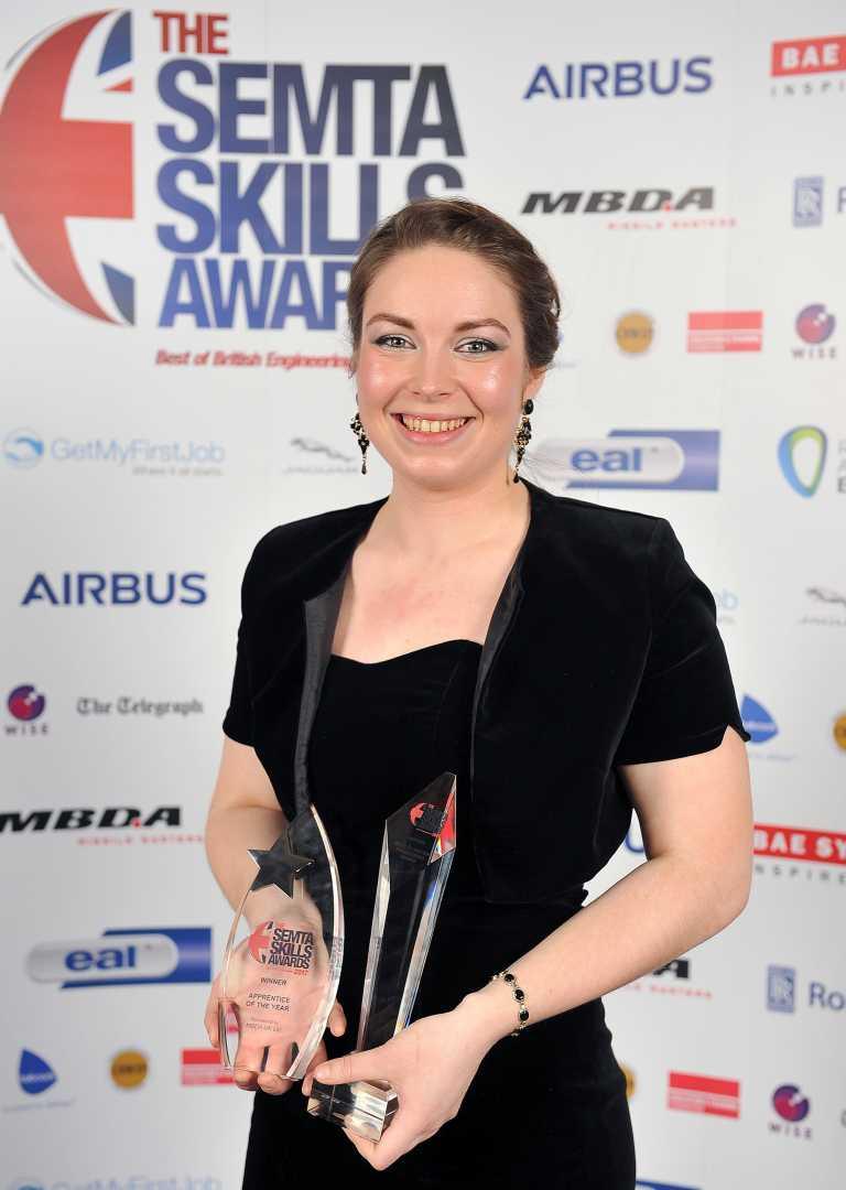 Philippa Dressler-Pearson, 'Best of British Engineering' Award winner – image courtesy of Semta Group.