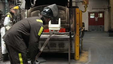 PI Castings not only agreed to help Sam produce his aluminium casting, but invited him to see his casting being manufactured – image courtesy of PI Castings.