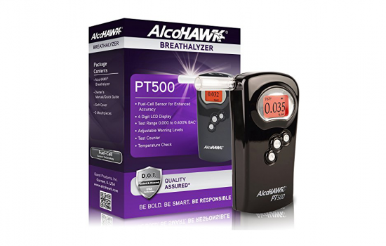 The AlcoHAWK PT500 Breathalyzer Alcohol Detector can help avoid DUII charges - image courtesy of Amazon and CrashCloud.
