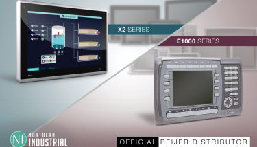 The X2 and E1000 products, manufactured by Beijer and available from NIControls - image courtesy of NIControls.