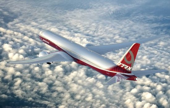 The next generation 777X aircraft is due to enter service in 2020 – image courtesy of Boeing.
