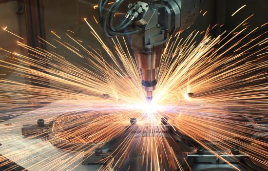Laser cutting a nuclear industry component at Paul Fabrications, the 100th company to complete Fit For Nuclear – image courtesy of F4N.