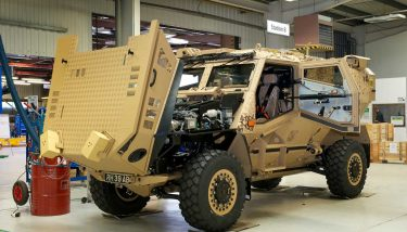 The British Army's Foxhound specialist light patrol vehicle - image courtesy of the Ministry of Defence, © Crown Copyright 2017