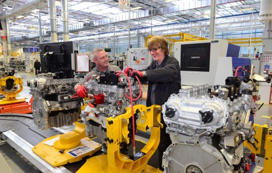 The Engine Manufacturing Centre (EMC) will manufacture the high-performance 2.0 litre 300PS Ingenium petrol engine for the 18MY Jaguar F-TYPE – image courtesy of Jaguar Land Rover.