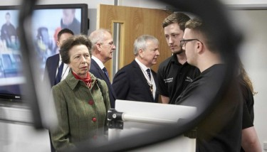 During her visit, The Princess Royal met a number of first year apprentices - image courtesy of EEF.