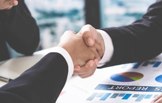 Stock Customer Digital Transformation Value Business Meeting Sales Hand Shake