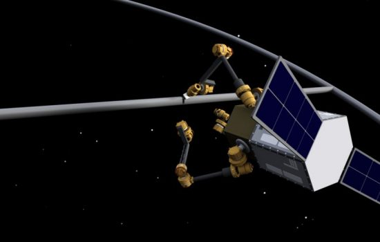 Archinaut can assemble large trusses in-orbit. Image courtesy of Made in Space.