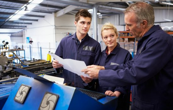 Skills Apprenticeships Apprenticeship Apprentices Workers Manufacturing Stock Image