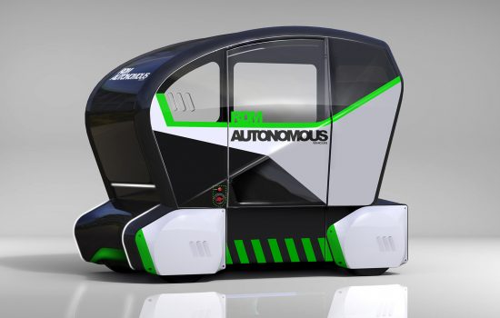 Driverless Technology - RDM Group's four and eight-seater pods are also able to accommodate wheelchairs, mobility scooters and bicycles – image courtesy of RDM Group.
