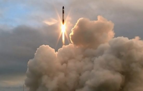 Rocket Lab's Electron rocket launched today from the North Island of New Zealand. Image courtesy of Rocket Lab.