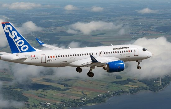 The company will reportedly produce 30 CS300 passenger jets with an option for a further 30 - image courtesy of Bombardier.