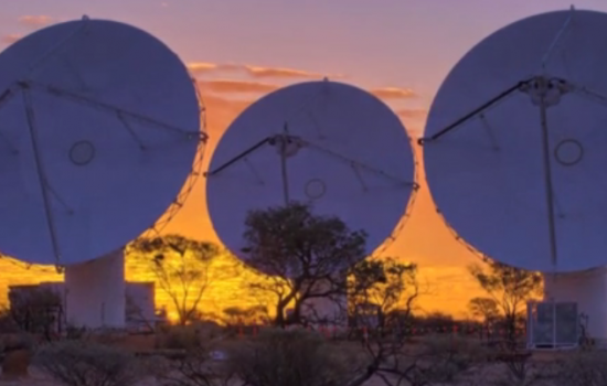 Phased array feeds for radio astronomy are a leading edge technology to receive, amplify and process the cosmic radio waves that travel through space - image courtesy of CSIRO.