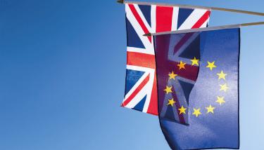 Union Jack EU Exit Europe Flag Stock Image