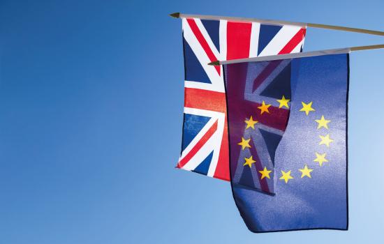 Union Jack EU Europe Flag Stock Image
